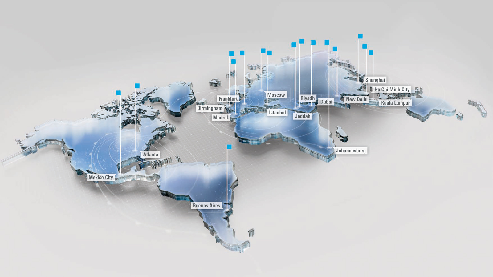 Automechanika Worldwide Map