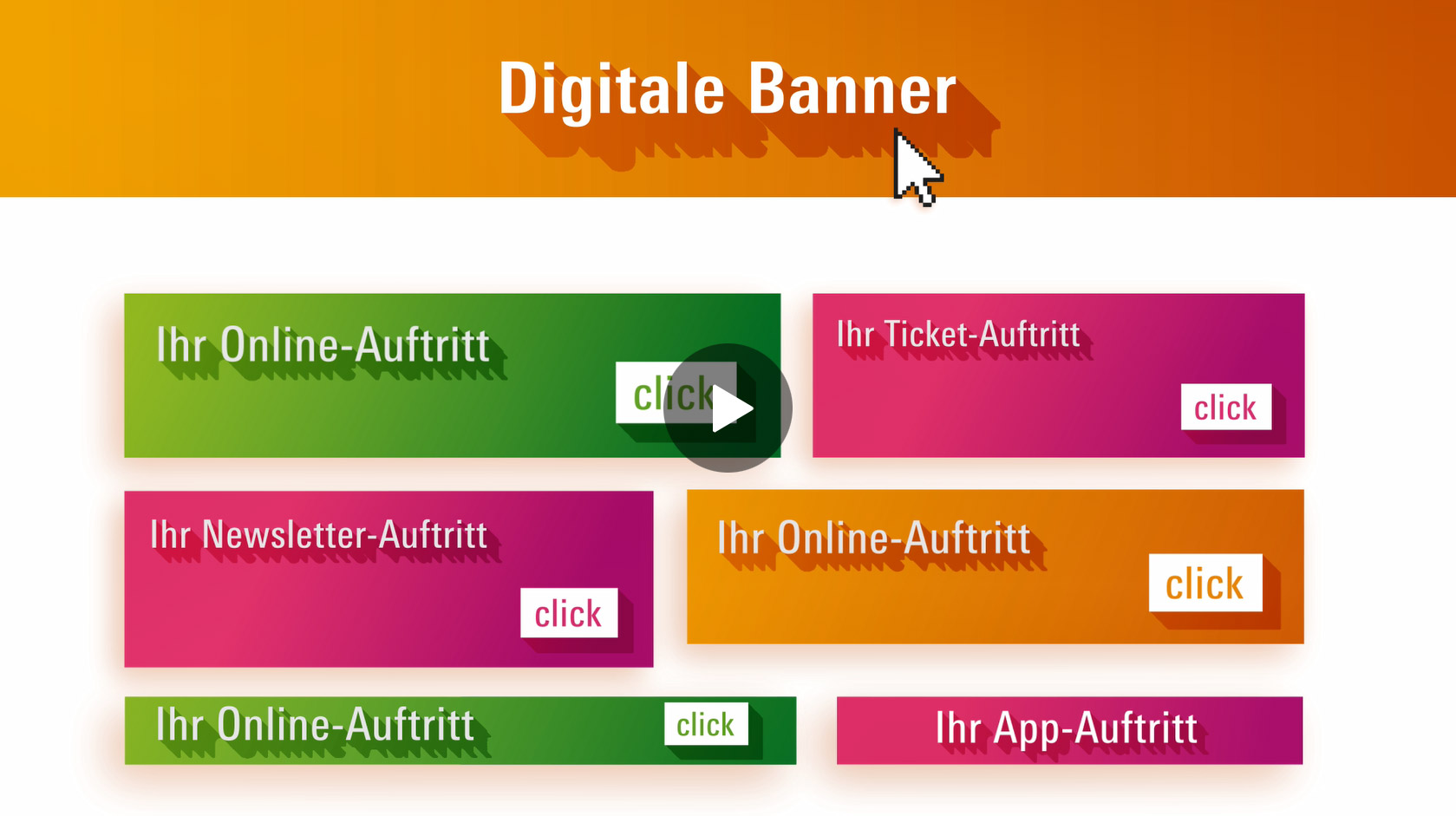 Digital Banner at Messe Frankfurt websites and apps