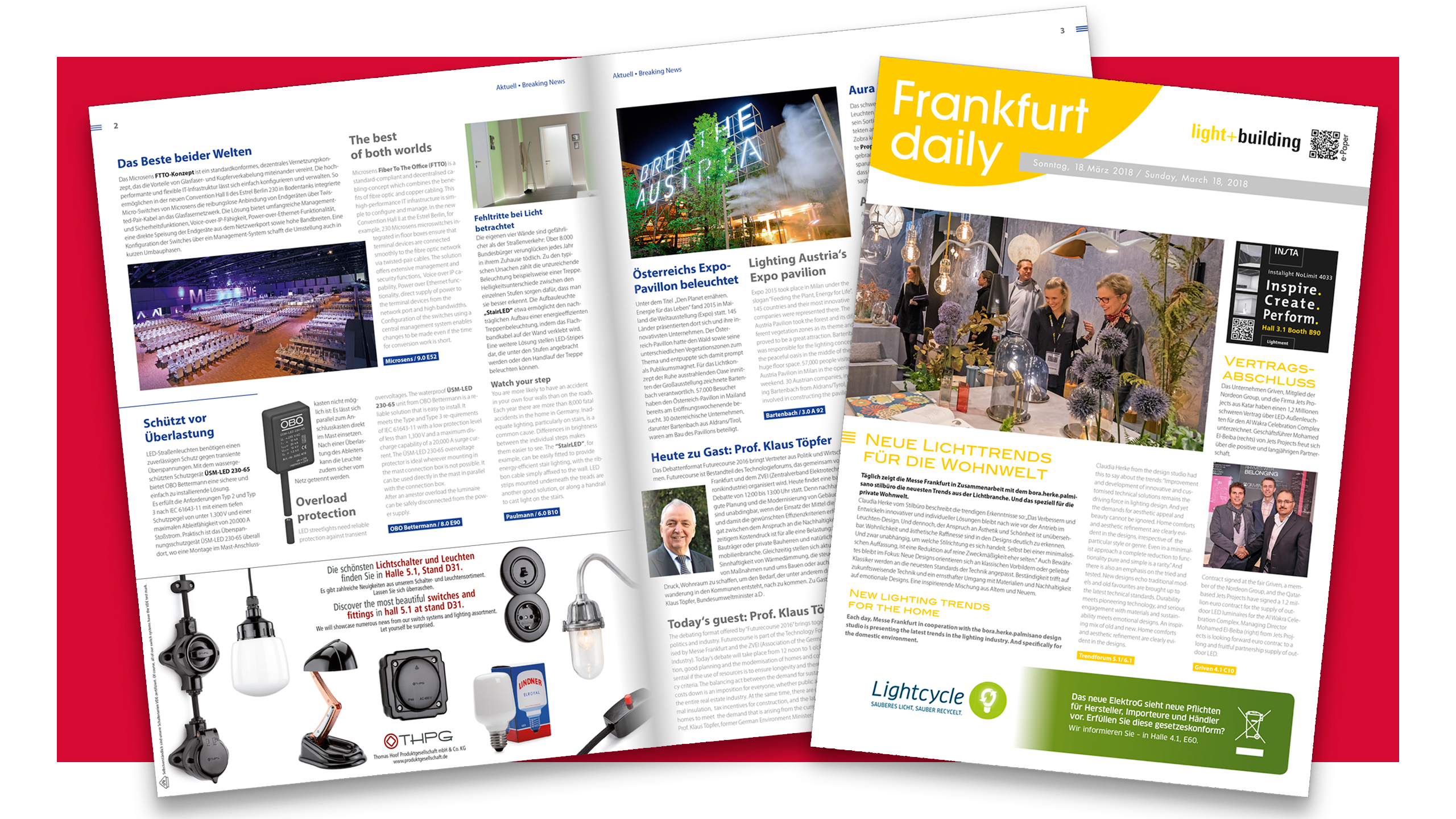 Your advertising opportunities Frankfurt daily